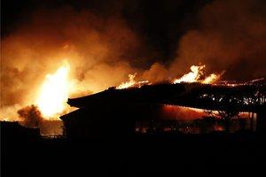 Castillo de Shuri, en Japón, en llamas.