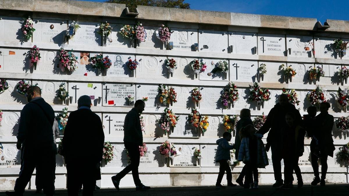 Un cementerio en una imagen de archivo
