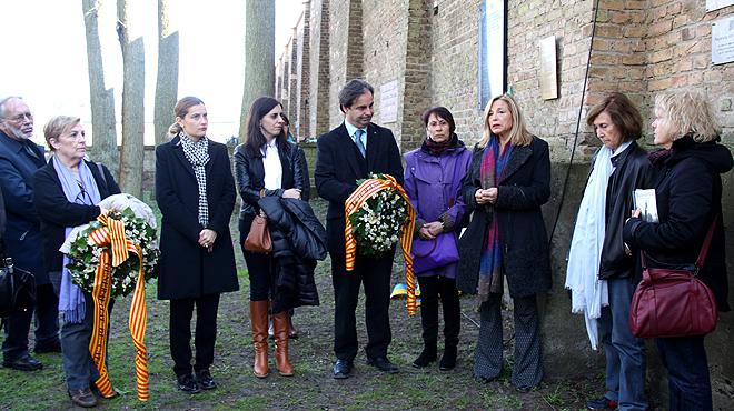 Commemoració del 70 aniversari de lalliberament del camp de concentració nazi de Ravensbrück.