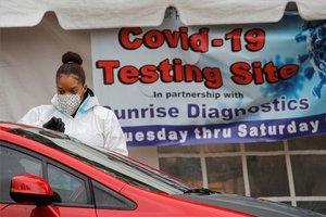 Pruebas masivas de COVID-19 en los EEUU.