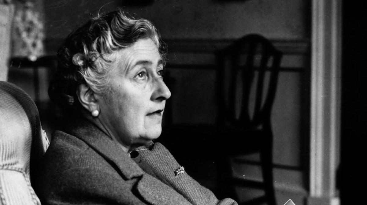La escritora Agatha Christie