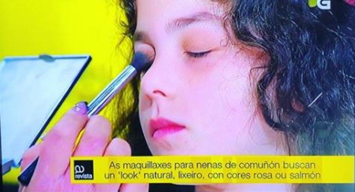 Críticas a la televisión pública gallega por un curso de maquillaje para niñas