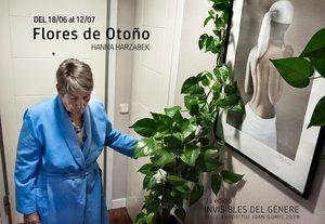 Cartel de la exposición Flores de otoño.