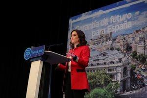 La candidata del PP a la Comunidad de Madrid, Isabel Díaz Ayuso.