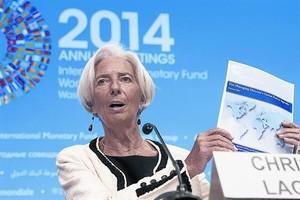 La directora gerente del FMI, Christine Lagarde, en Washington.