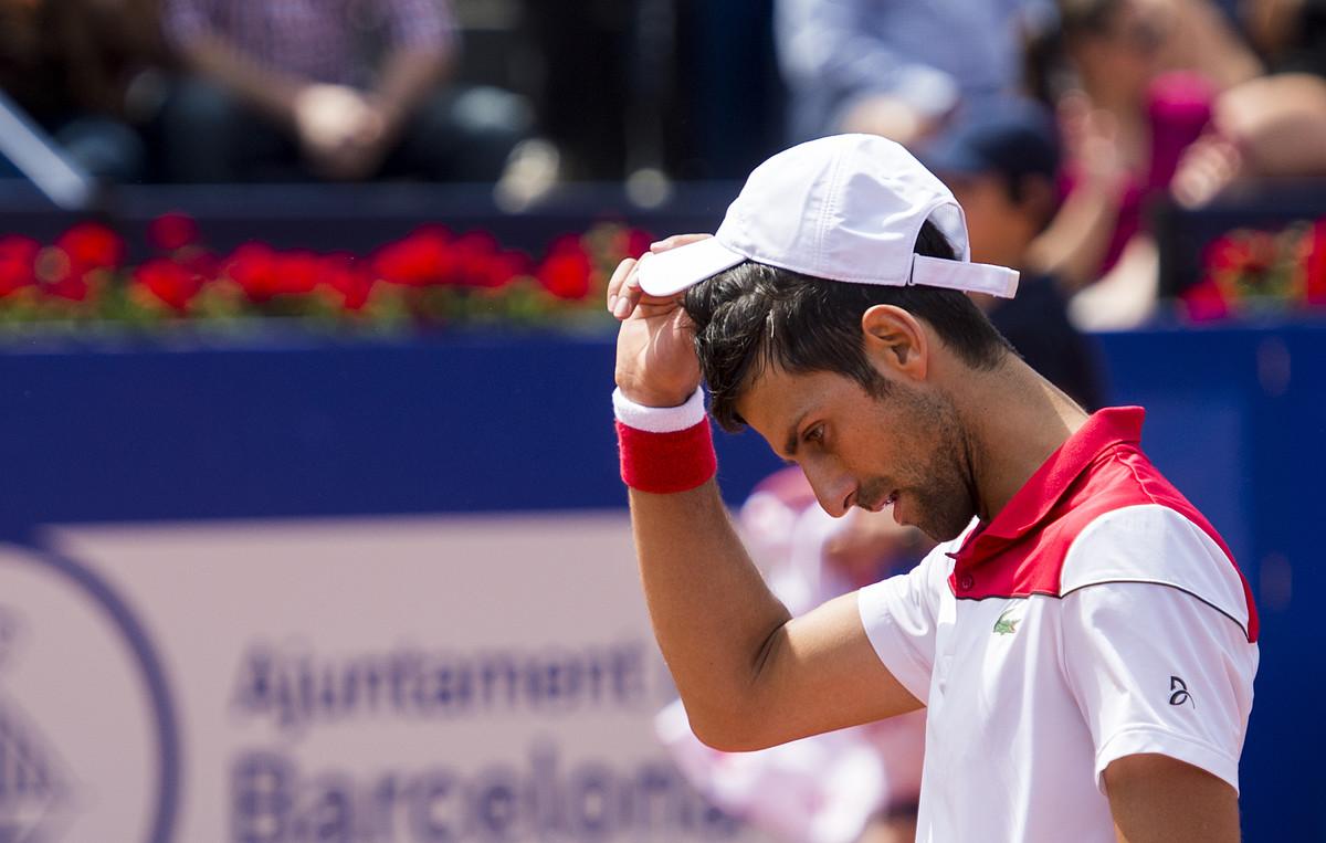 Novak Djokovic, en su derrota.