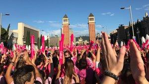 La Cursa de la Dona en Montjuïc.