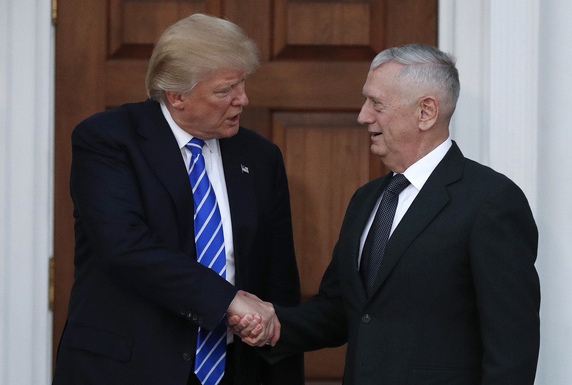 Trump y el general Mattis.