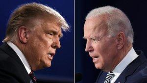 Donald Trump y Joe Biden, durante el primer debate electoral.