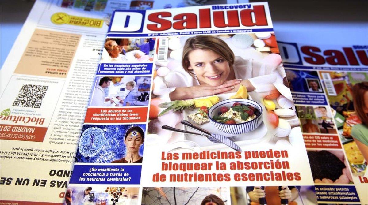 Ejemplar de la revista 'DSalud', que recoge algunas de las teorías que lanzan los defensores de las pseudoterapias.