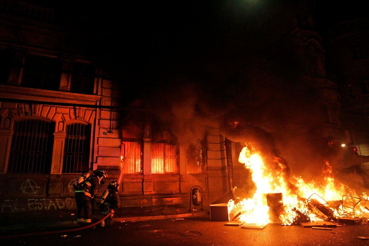 La violencia en Chile se está descontrolando.