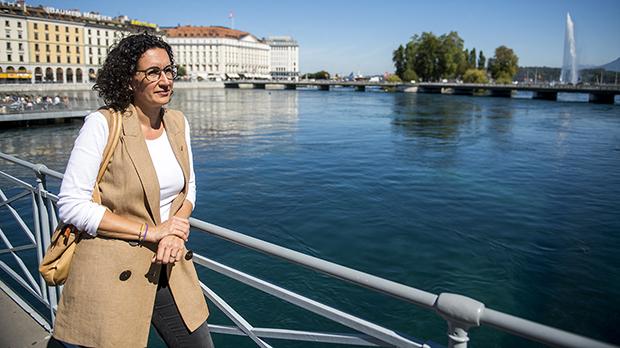 La secretaria general de Esquerra Republicana de Catalunya, Marta Rovira, entrevistada por el Periódico de Catalunya en Ginebra.