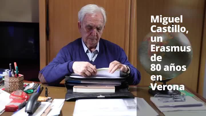 Miguel Castillo, un Erasmus de 80 años en Verona.