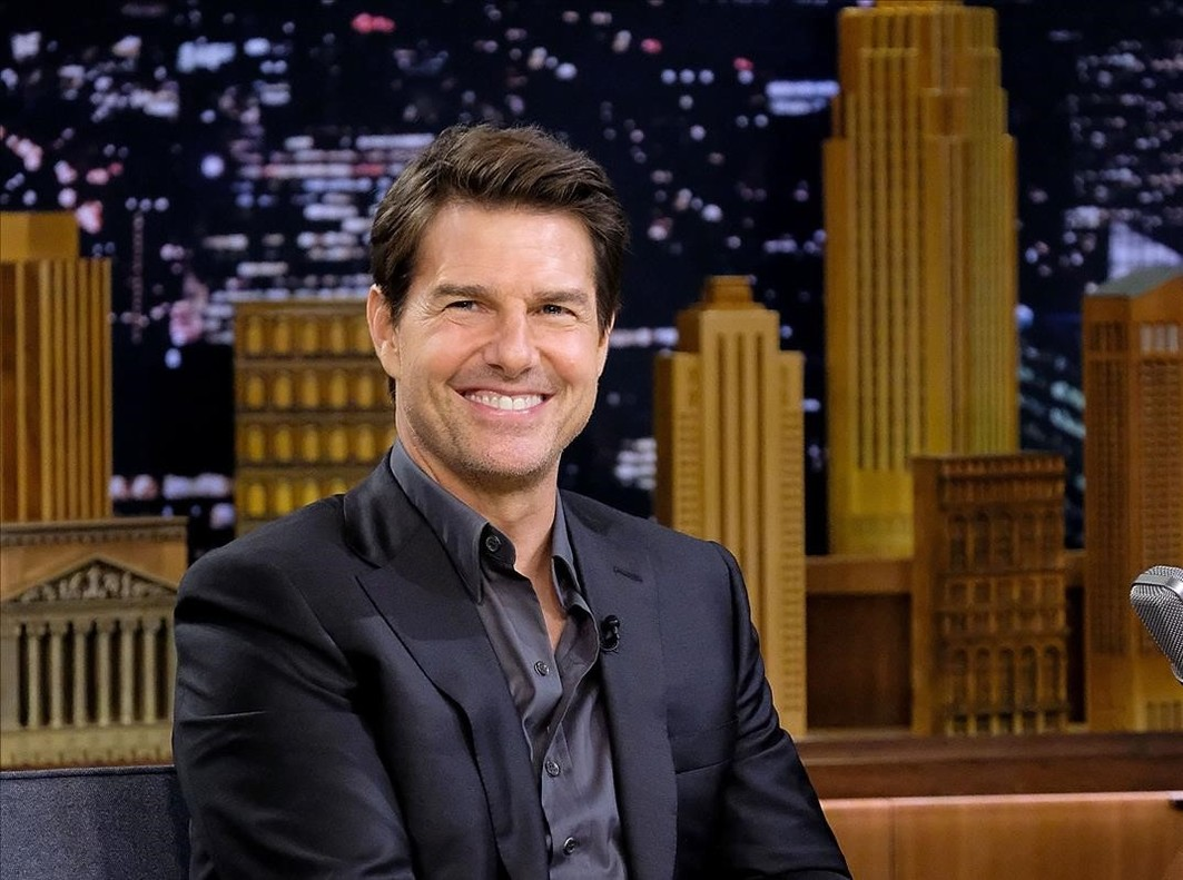 Tom Cruise, en el plató de 'Tonight Show Starring Jimmy Fallon', el pasado 23 de julio.