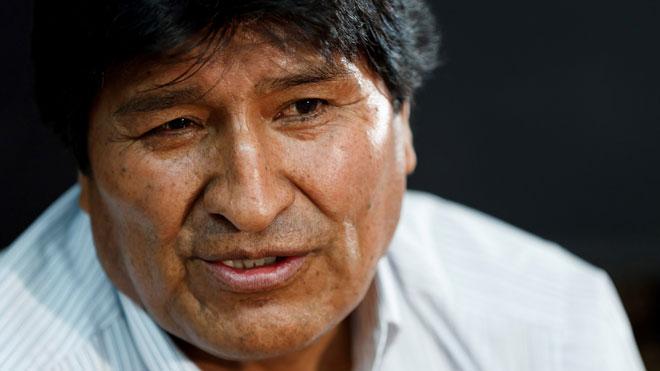El expresidente Evo Morales, durante la entrevista con Efe.