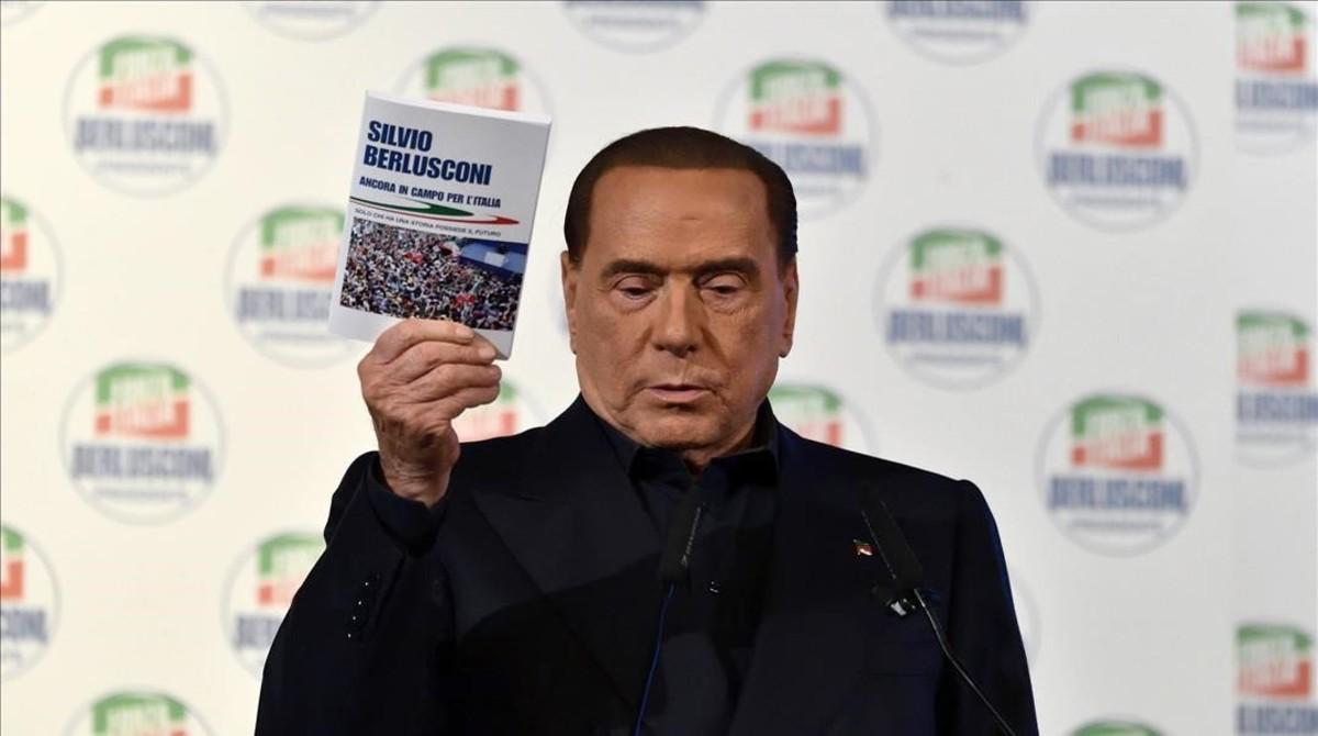 El exprimer ministro Silvio Berlusconi, el domingo.