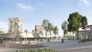 Imagen virtual del futuro mercado de Montserrat, en Nou Barris.