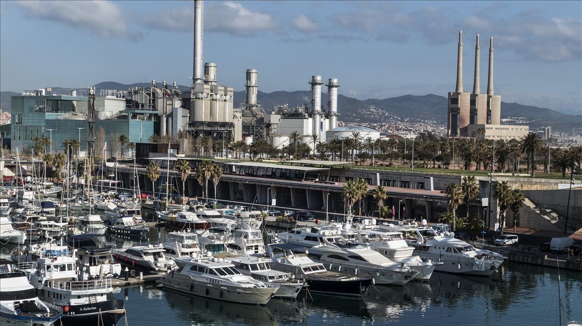 La marina del Port Fórum de Sant Adrià de Besòs.