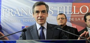 François Fillon, en unarueda de prensa.