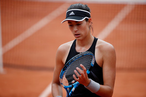 Tennis - French Open - Roland Garros, Paris, France - May 29, 2018 Spains Garbine Muguruza during her first round match against Russias Svetlana Kuznetsova REUTERS/Pascal Rossignol