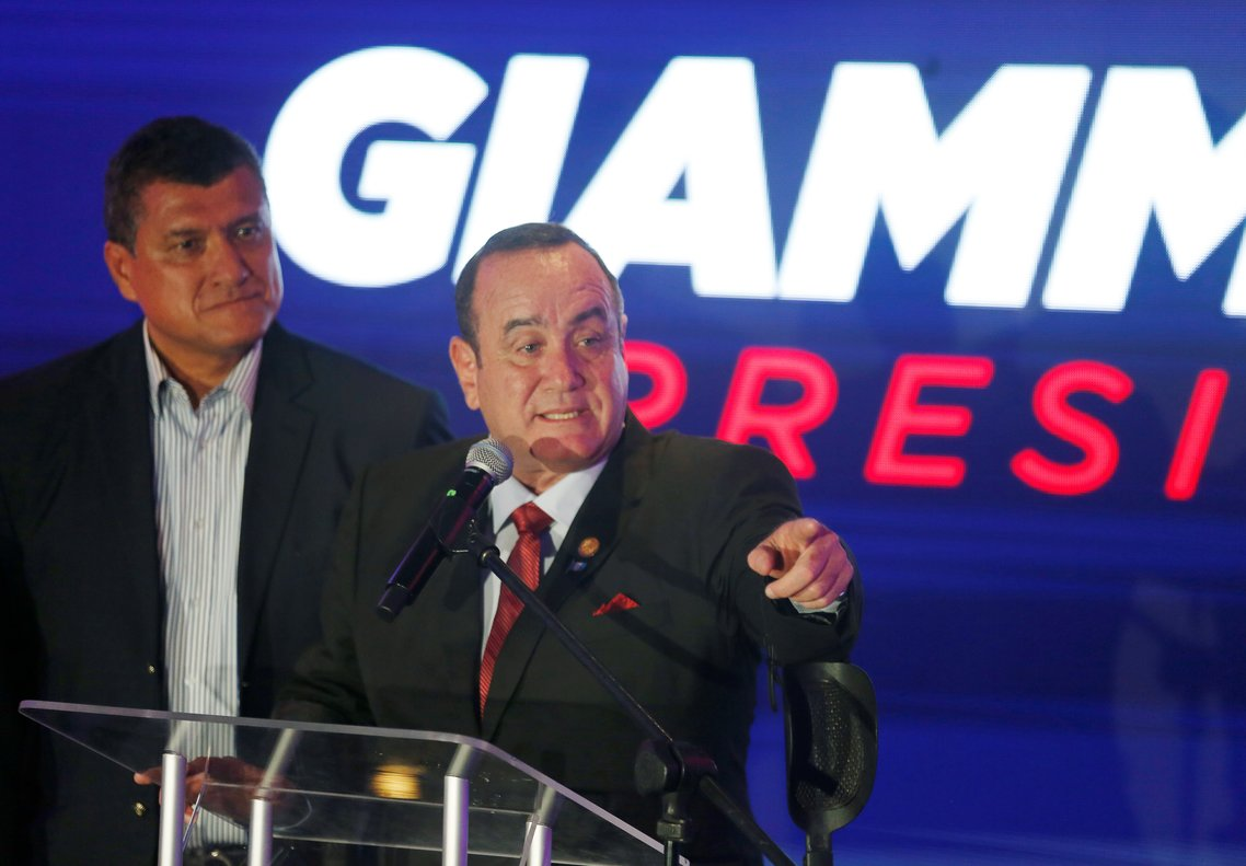 Alejandro Giammattei, virtual presidente de Guatemala.