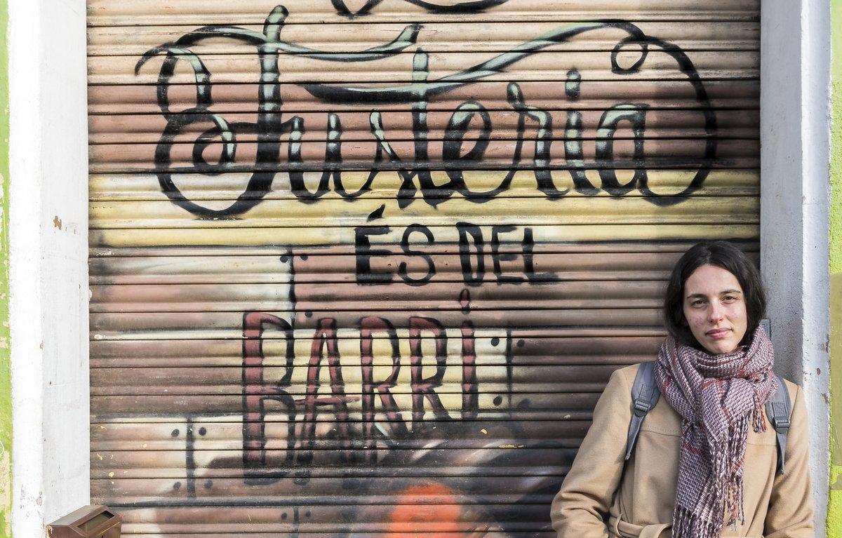La ilustradora Carlota Juncosa, en La Fusteria.