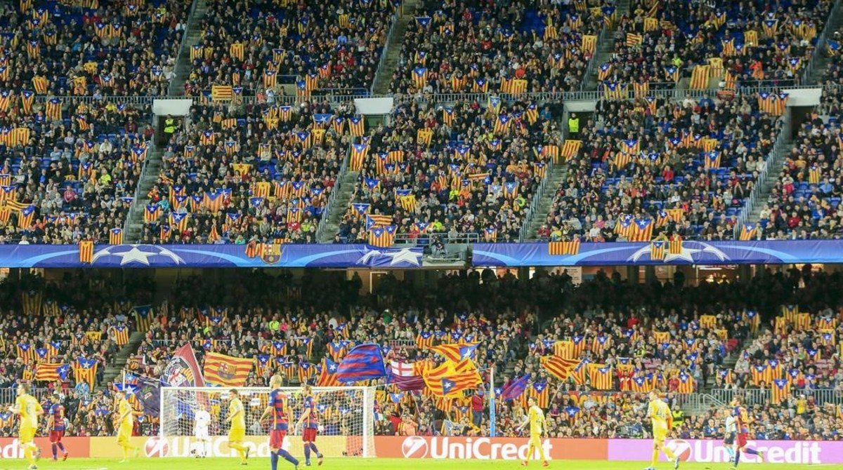 bcd700d644941 Imagen del Camp Nou en el partido Barça-Bate Borisov de la Champions en  noviembre