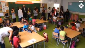 Una comissiódEducacióde la ciutatfrancesa de Nantes visita les escoles de Viladecans.