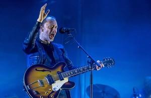 INFLUYENTE Thom Yorke, de Radiohead, anoche en el Fòrum.