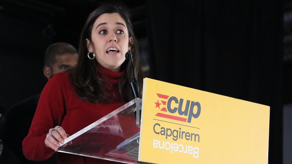Anna Saliente, tras ser elegida cabeza de lista de la CUP.