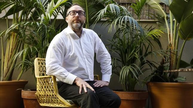 Jimmy Wales, fundador de la Wikipedia, en Barcelona en marzo del 2015.