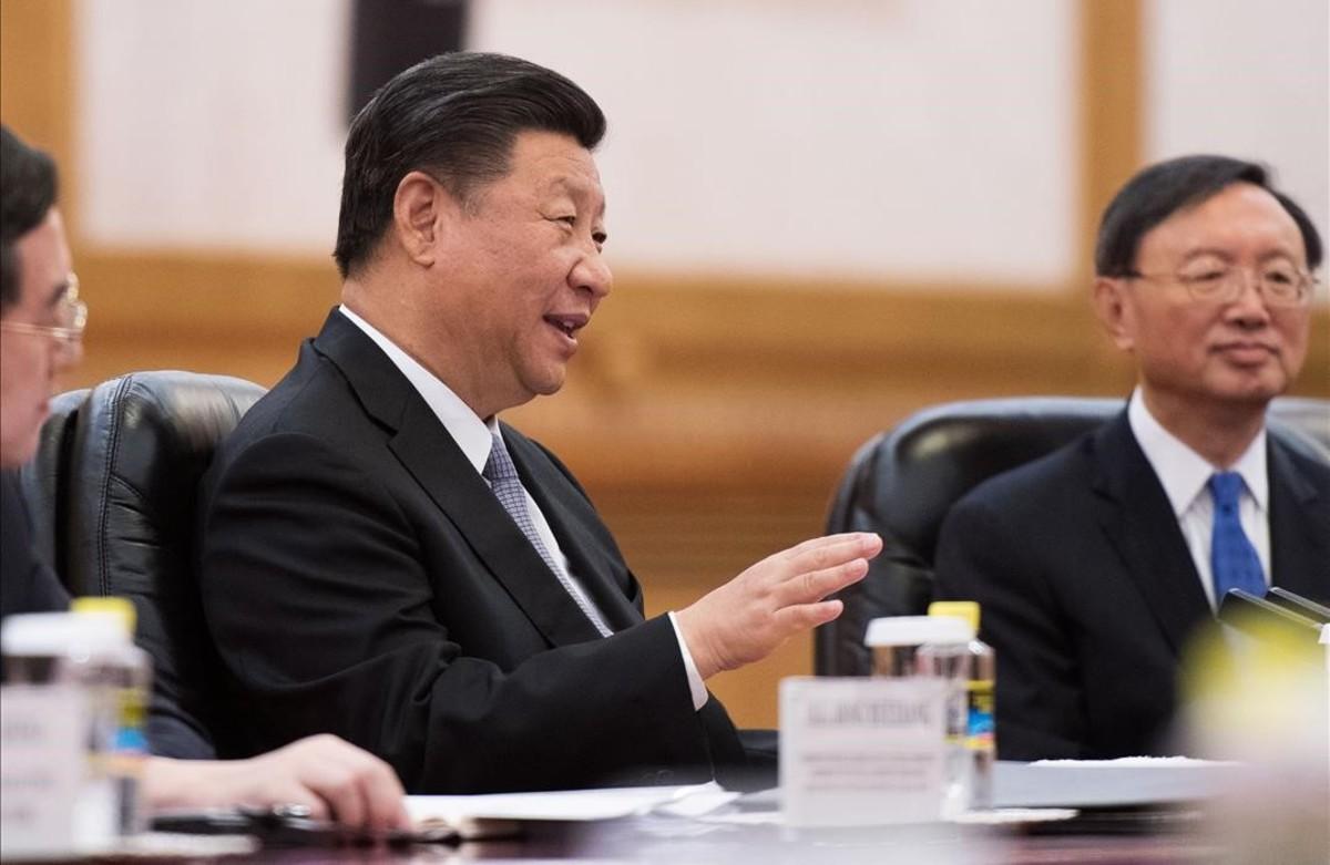 El presidente chino, Xi Jinping, durante la cumbre con los líderes africanos.