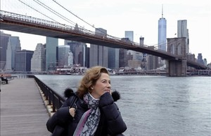 Julia Navarro en Nueva York.