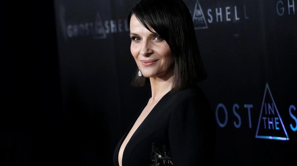 Juliette Binoche, en la presentación de Ghost in the shell el pasado 29 de marzo en Nueva York.