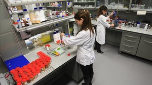 Un laboratorio del Parc Científic de Barcelona.