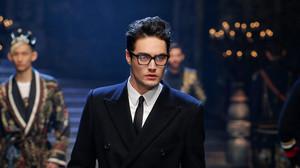 Levy Dylan, en la pasarela de la Fashion Week de Milán, el pasado martes 17 de enero.