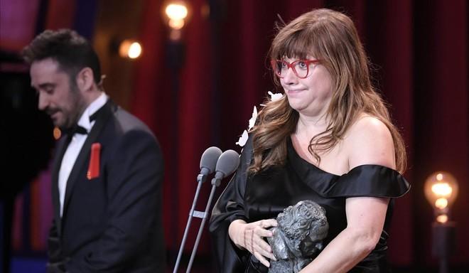 Isabel Coixet, recoge el premio Goya a la mejor película.