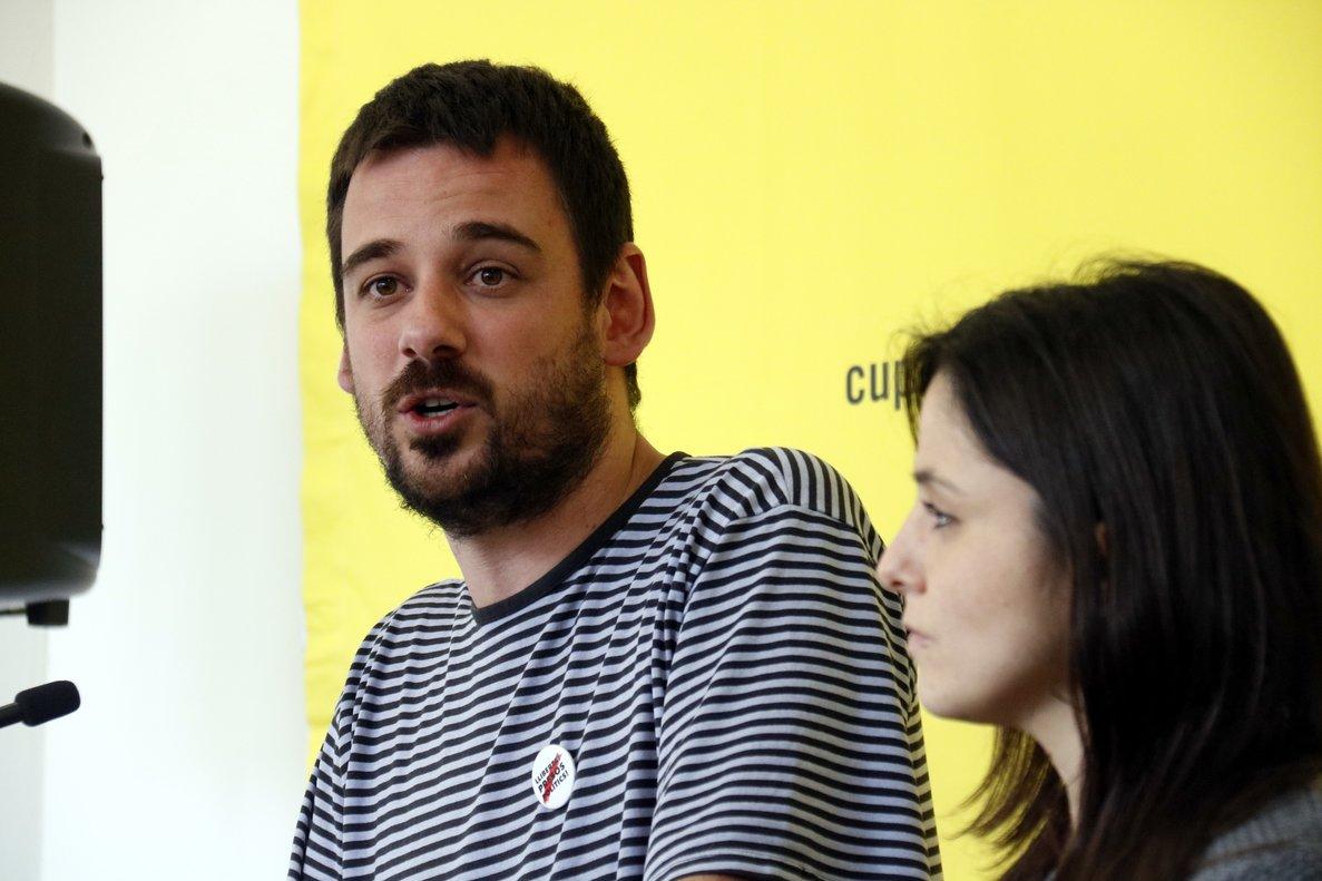 Lluc Salellas y Maria Sirvent, dirigentes de la CUP, en una imagen de archivo.