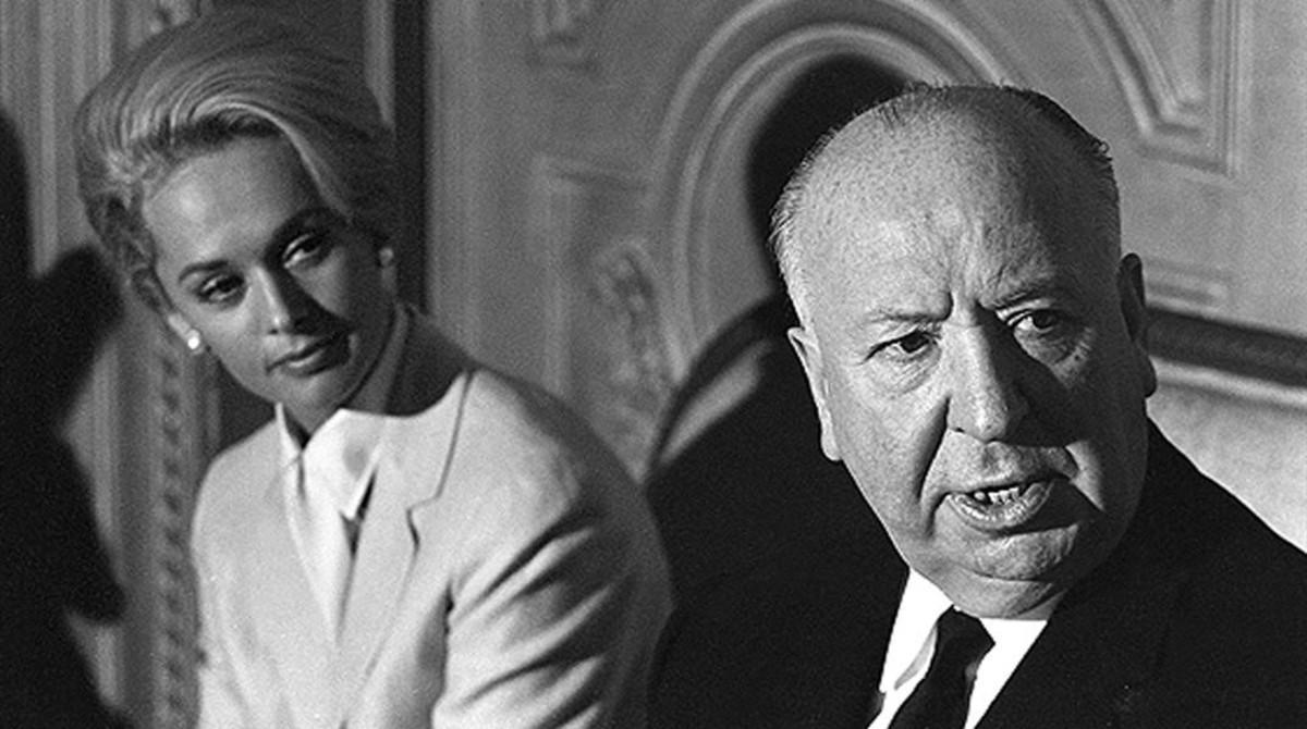 Alfred Hitchcock y Tippi Hedren, en 1963.