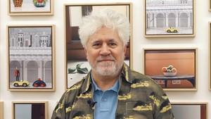 Pedro Almodóvar, en una exposición de sus bodegones en la Fresh Gallery, el septiembre pasado.