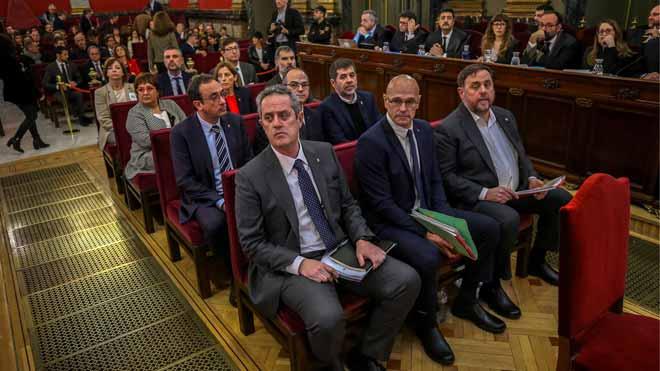 Los acusadosdel 'procés', en el banquillo del Tribunal Supremo.