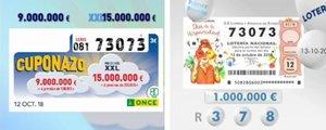 Lo nunca visto: el 73.073 ha sido primer premio en dos sorteos del fin de semana