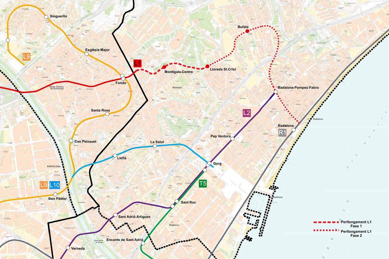 Primer Paso Para La Ampliacion Del Metro En El Norte De Badalona