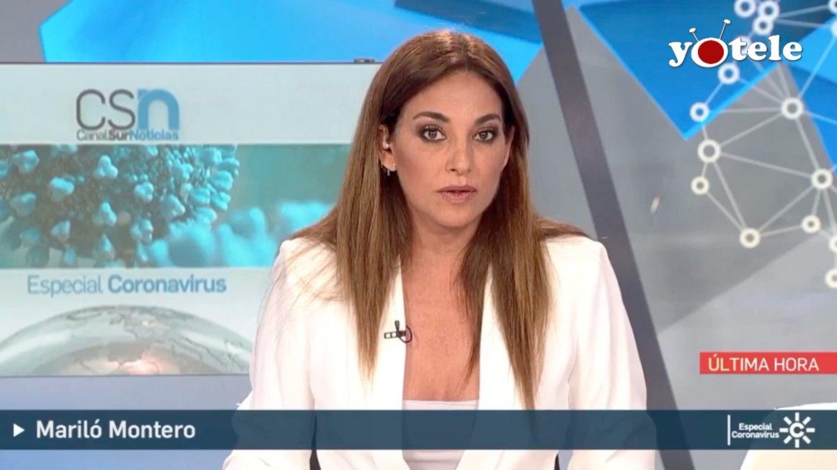 Mariló Montero presentando la segunda edición de 'Canal Sur Noticias'.