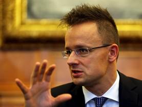 HEl ministro de Exteriores de Hungría, Peter Szijaarto.