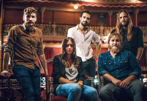 Los cinco integrantes de la banda madrileña Morgan