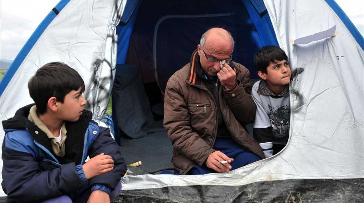 Nazim Serham, el refugiado sirio que ha decidido empezar una huelga de hambre.