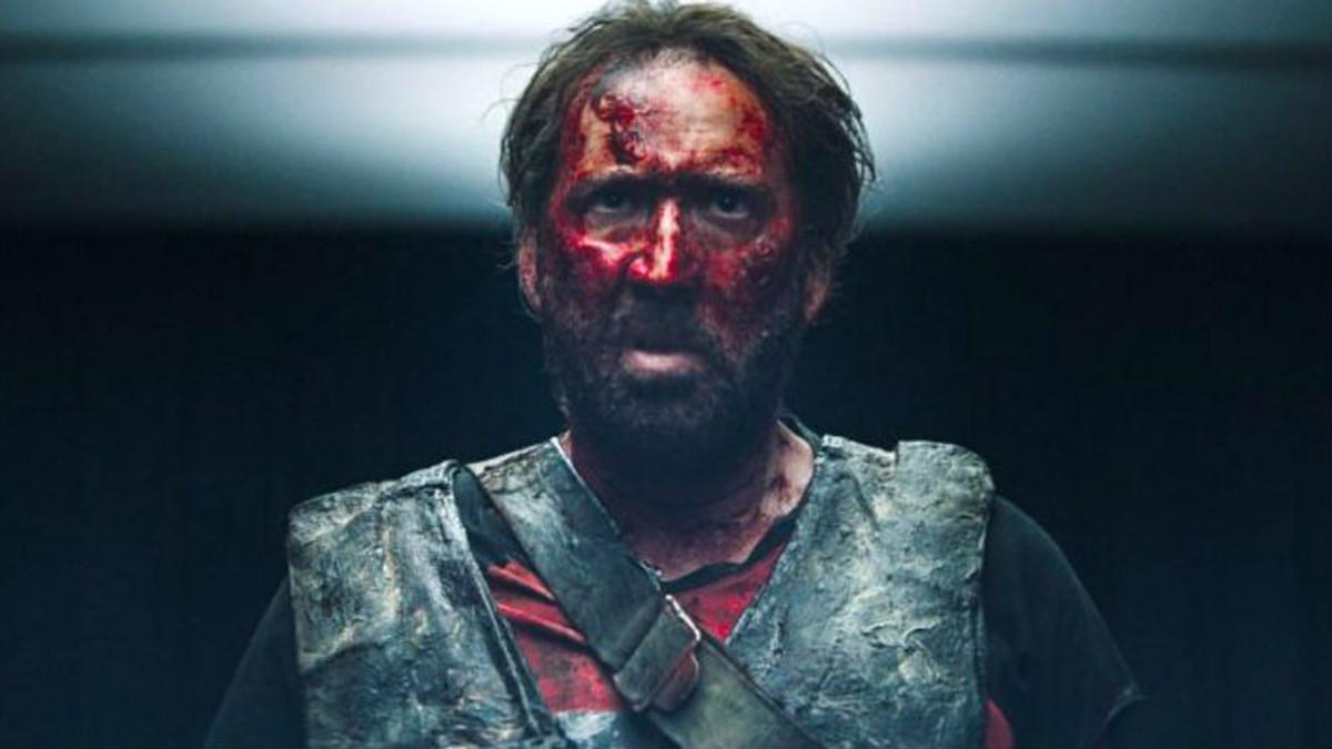 Nicolas Cage, en un fotograma de Mandy