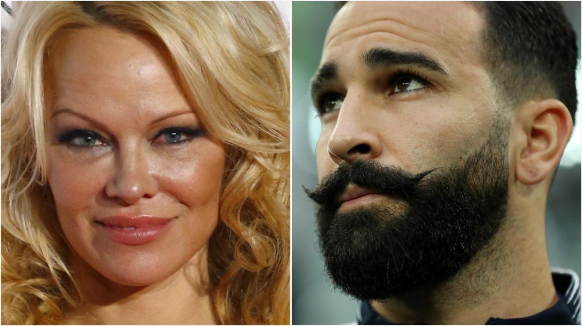 Pamela Anderson y el futbolista Adil Rami.