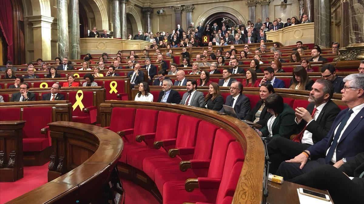Sesión constitutiva del Parlament.